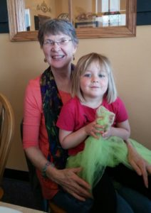 Suzanne Kilkus with her grandaughter Glo
