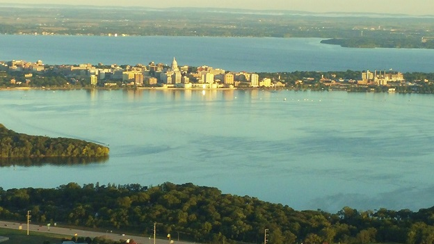 Madison from the air