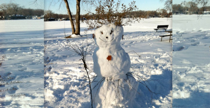 Snow-woman found in Madison, WI