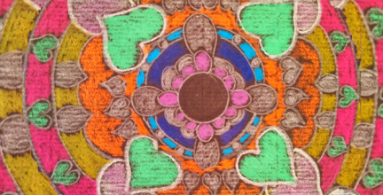 Colorful mandala like drawing