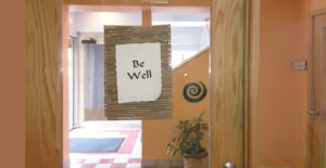 Suzanne's office suite area wishes you wellness